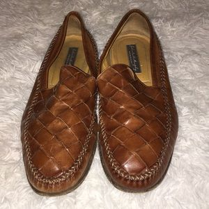Mens johnston&Murphy Italian leather loafers sz12